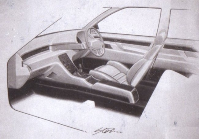 Advanced and sporting looking interior