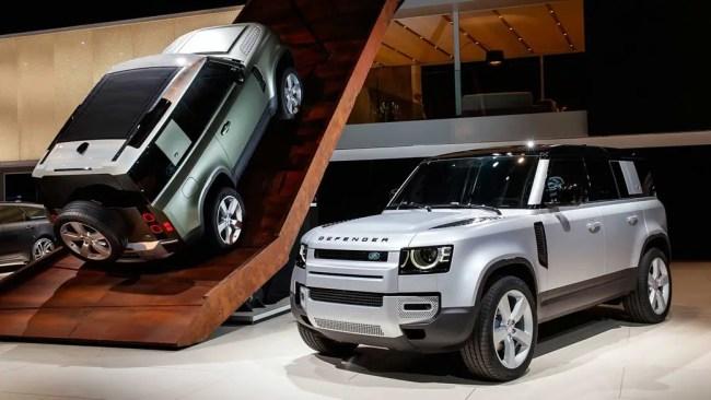 Land Rover Defender in Frankfurt
