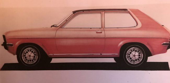 There's no getting away from it - the Chevrolet Hatch was oddly-proportioned, even as a design sketch