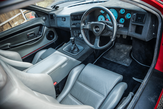 Panther Solo interior, featuring those lovely blue dials