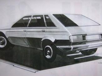 LM19 Austin Ambassador styling sketch by Roger Tucker