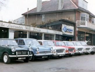 Lavender Hill Garage Enfield, 1965