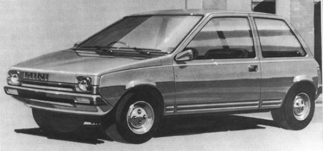 """This early sketch, dating from 1974, clearly shows that ADO88 started out as a Mini replacement. While looking more adventurous than ADO74, the principle of """"maximum interior room – minimum external size"""" was eloquently demonstrated in the car's boxy lines"""