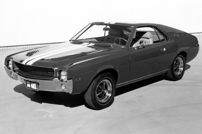 The 1968 AMC AMX - the true inspiration for the Marina's door handles...