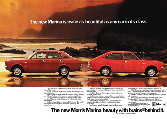 Morris Marina 1971 advert