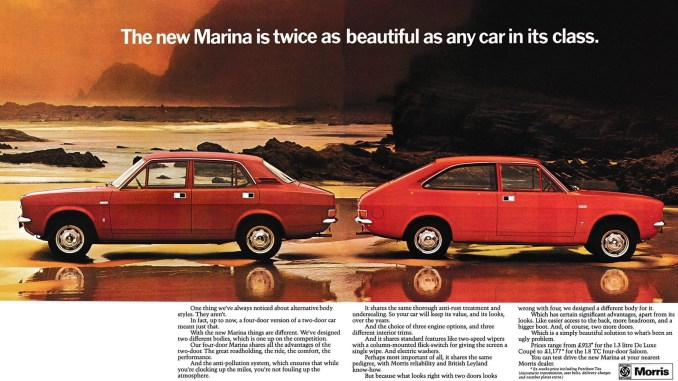 Morris Marina 1971 advert
