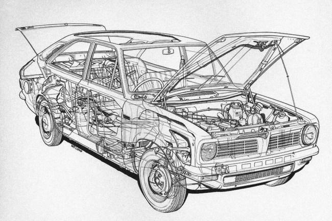 Morris Marina cutaway