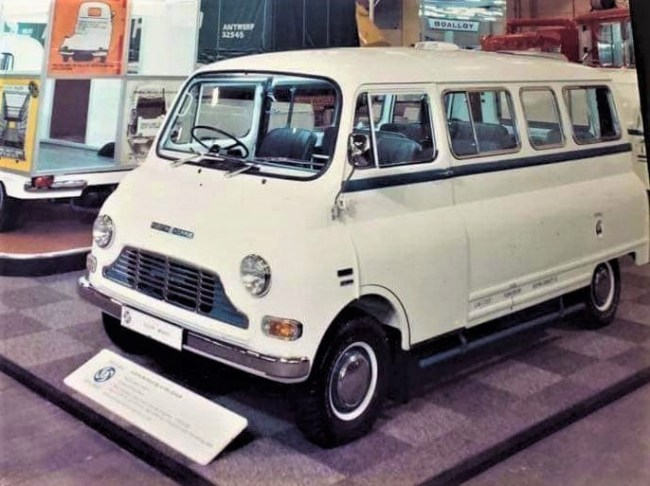 A 250 JU Coach displayed by British Leyland in the early '70s (when they were badged Austin Morris).