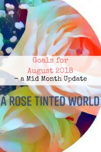 Goals for August 2018 - a mid month update