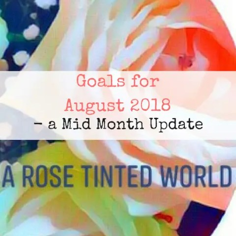 Goals for August 2018 – a Mid Month Update