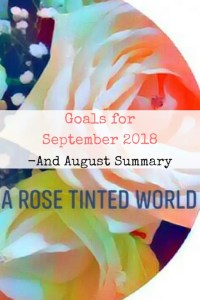 goals for September 2018