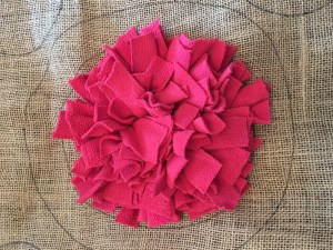 Making a rag rug - taking shape 1