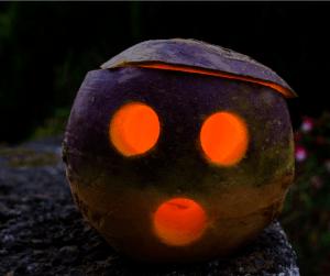 Turnip Lantern A very 70s Halloween
