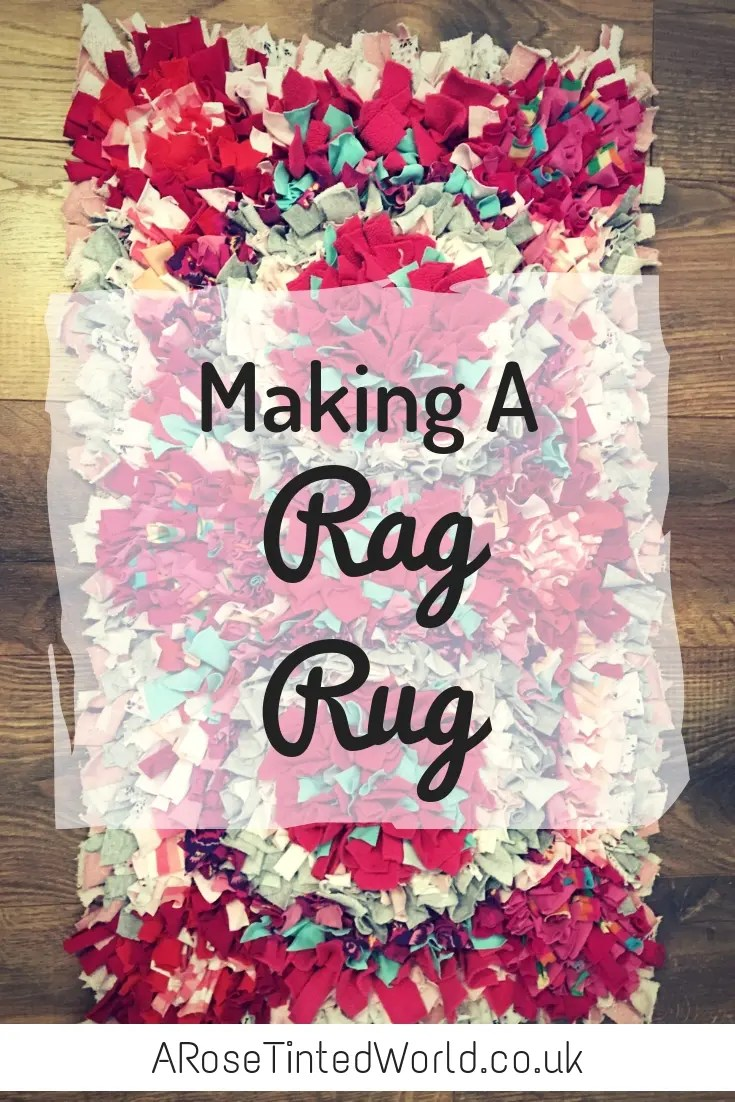 Making A Rag Rug - a frugal zero waste way of using old clothes to make a lovely decorative item . DIY your own rug using this tutorial. Full instructions on how to make this lovely shaggy floor cover. #sustainable #sustainableliving #zerowaste #zerowasteliving #zerowastelifestyle #ragrug #proddyrug #ragrugsproject #frugallivingtips