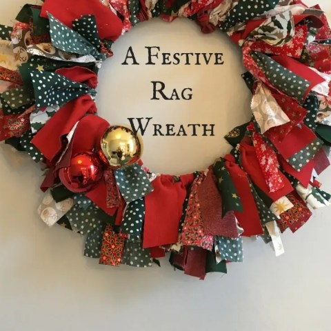 A Festive Rag Wreath