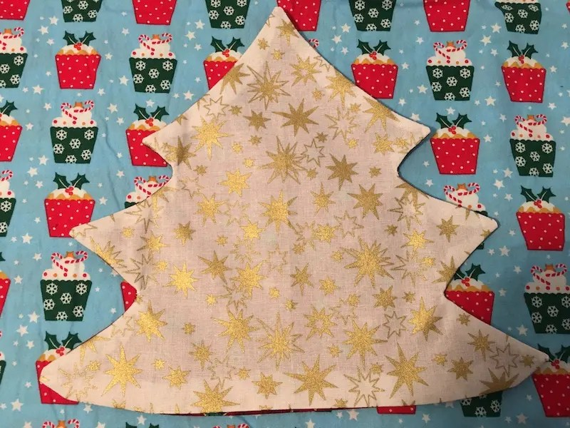 Padded Fabric Christmas Trees - pressed