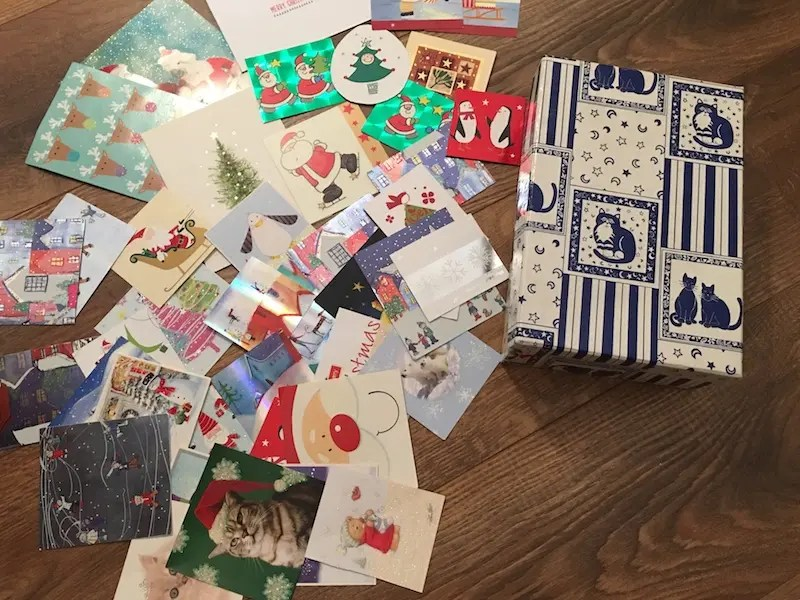 Merry Lagom Christmas - cards before cutting