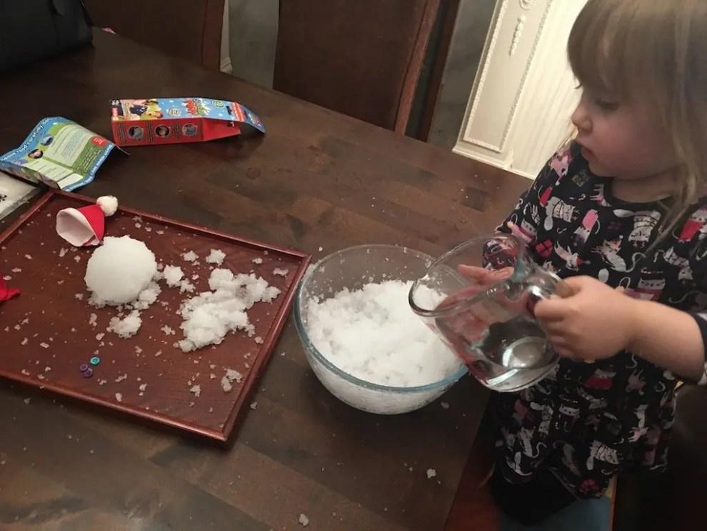 10th of December - elizabeth adding water