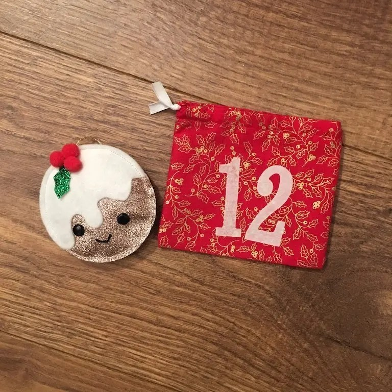 12th of December advent bag