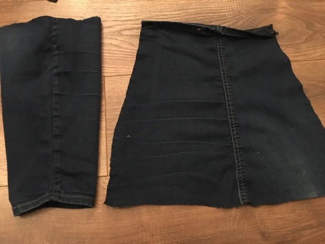 New Clothes From Old - lower leg opened out