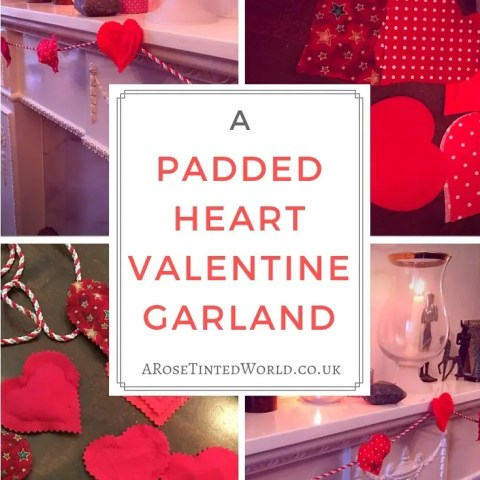 Padded Heart Valentine Garland