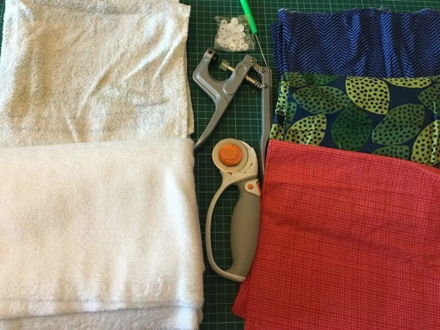 reusable kitchen roll - materials needed