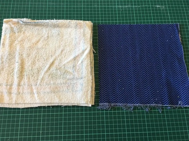 reusable kitchen roll - method 1 - squares