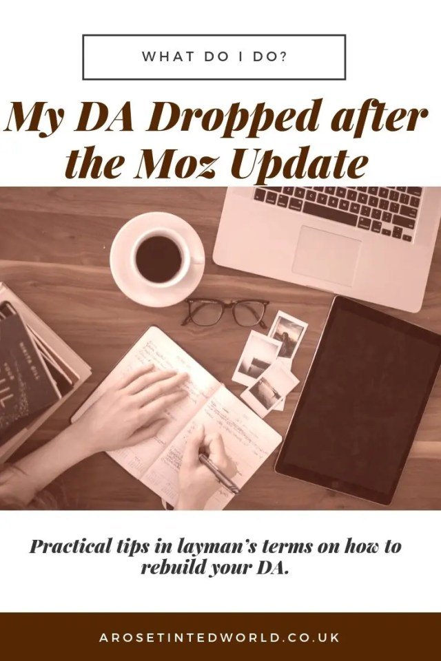 DA dropped after the Moz Update