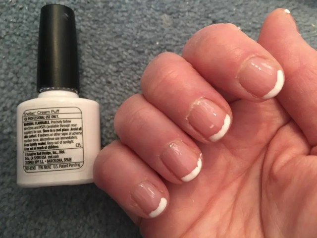 Doing My Own Shellac Manicure - cream puff