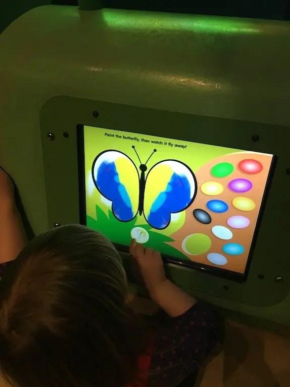 Eureka! Children's Museum - butterfly screen