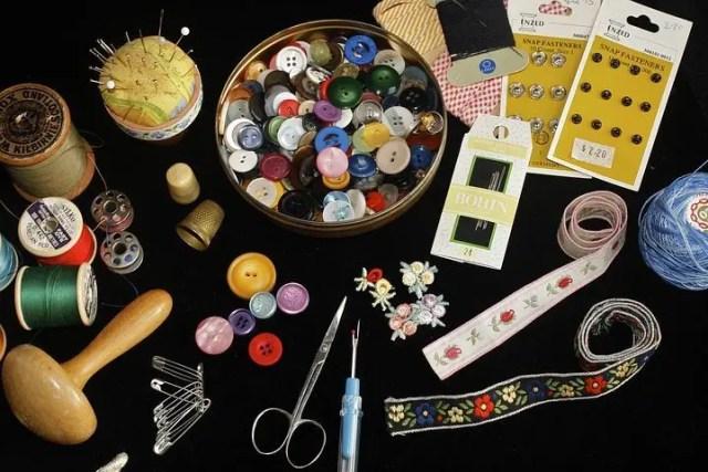 Encouraging Children to Start Sewing - button box