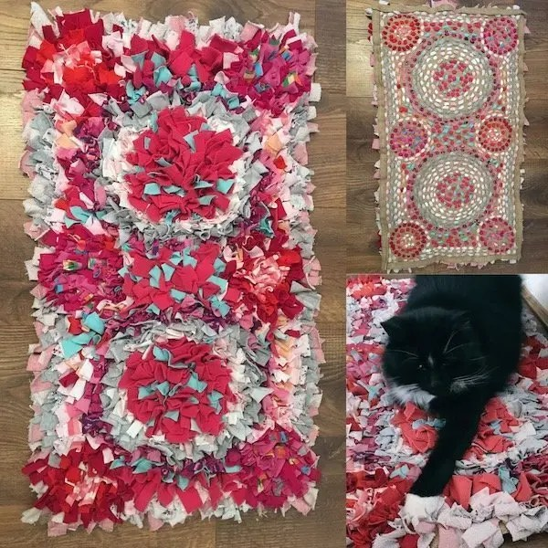 Upcycling Old Clothes - rag rug
