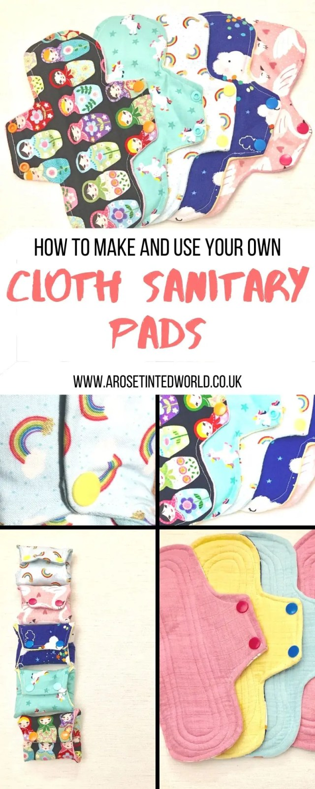Reusable Sanitary Pads - How To Make And Use Them ⋆ These are a great way of upcycling old clothes and bedding. Find out the advantages. How to wash. How to clean. How to make. Chart of core layers needed. Materials to use. Step by step tutorial on how to make these zero waste items #upcycling #reusablesanitarypads #zerowaste #makeyourownsanitarypads #sewingtutorial #zerowasteliving #zerowastelifestyle #upcycledclothes #recycle  #upcyclingclothes #recycledfashion #ecofriendly