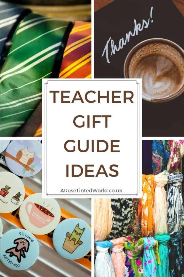 Teacher Gift Guide Ideas - here are some brilliant ideas for gifts and presents that you can give to your teacher at Christmas, holidays and at the end of year or term. Appreciation thoughts and gifts for great teachers. Lots of ideas to suit any budget, but mostly not to break the bank #teachergifts #teacherpresents #endofyeargifts #teachergiftguide #teachergiftideas