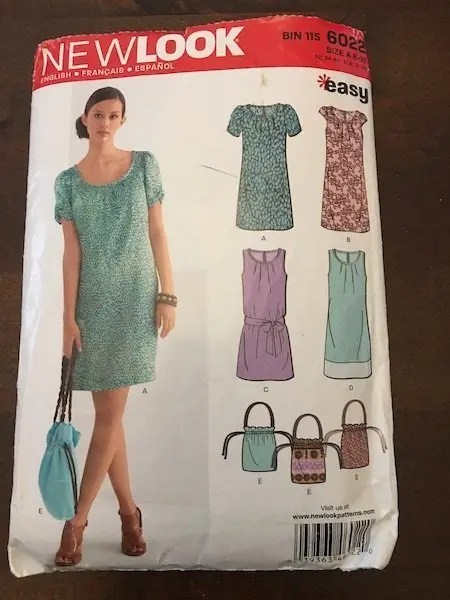 The New Look 6022 Dress Pattern - packet