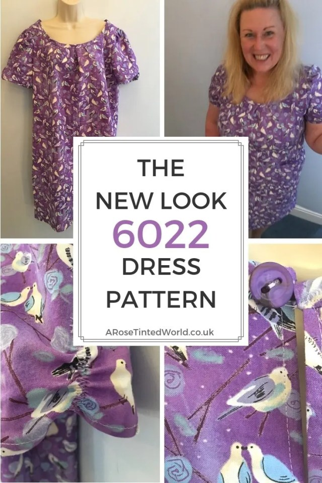The New Look 6022 Dress pattern. What I thought of the pattern and how I made it. Wearable toile. Why not sew your own. Perfect beginner's dress pattern for novice sewers. Easy sewing project for dress makers. #sewing #sewingtips #easysewingpattern #novicesewing #easydresspattern #beginnerssewingpattern #newlookpattern #newlook6022