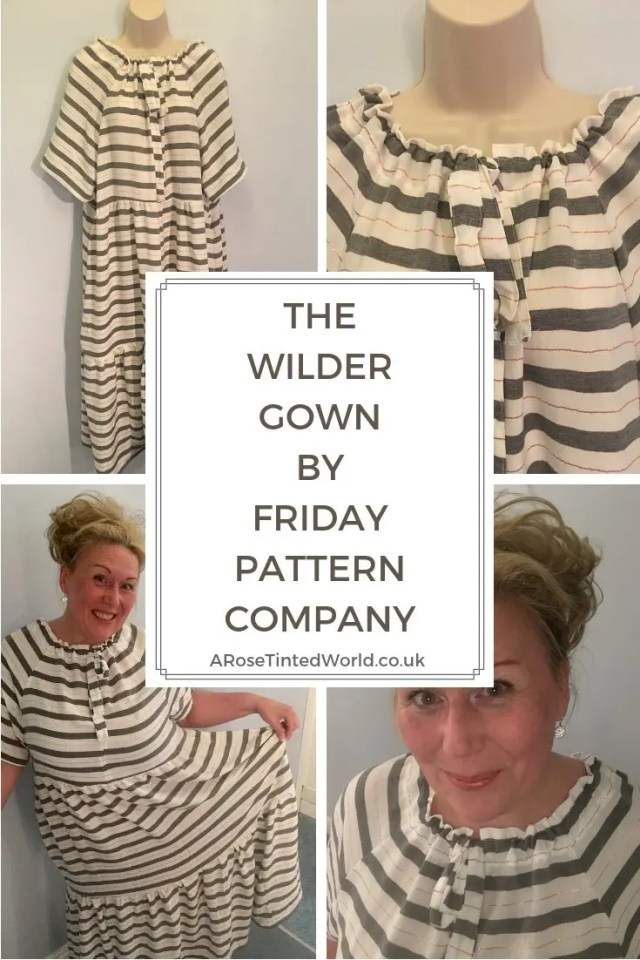 The Wilder Gown By Friday Pattern Company - What I thought of the pattern and how I made it. Wearable toile. Raglan sleeve. Gathered tie neckline This lovely flowy dress can be modified in so many ways to be a maxi dress, midi dress or blouse. Why not sew your own? A great sewing project for beginner novice dress makers. #sewing #dress #dresspattern #sewingtips #sewingpattern #dresshandmade #slowfashion #dresssewing #wildergown #wildergownpattern #beginnerssewingpattern #fridaypatterncompany #maxidresspattern #raglansleeves