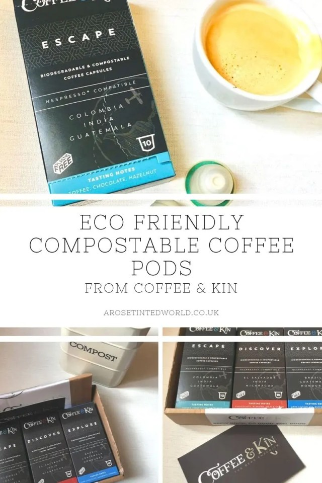 Eco Friendly Compostable Coffee Pods - these lovely blends of coffee come in plastic free pods that are biodegradable and compostable in your domestic compost bin. #ecofriendly #zerowasteliving #zerowaste #compostable #compostablecoffeepods #coffeepods #ecofriendlycoffeepods #worldskindestcoffeecapsules #coffeecapsules #compostablecoffeecapsules