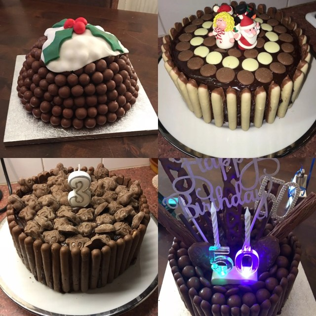 how I decorate my chocolate cake
