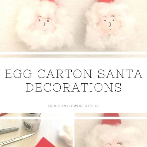 Egg Carton Santa Decorations
