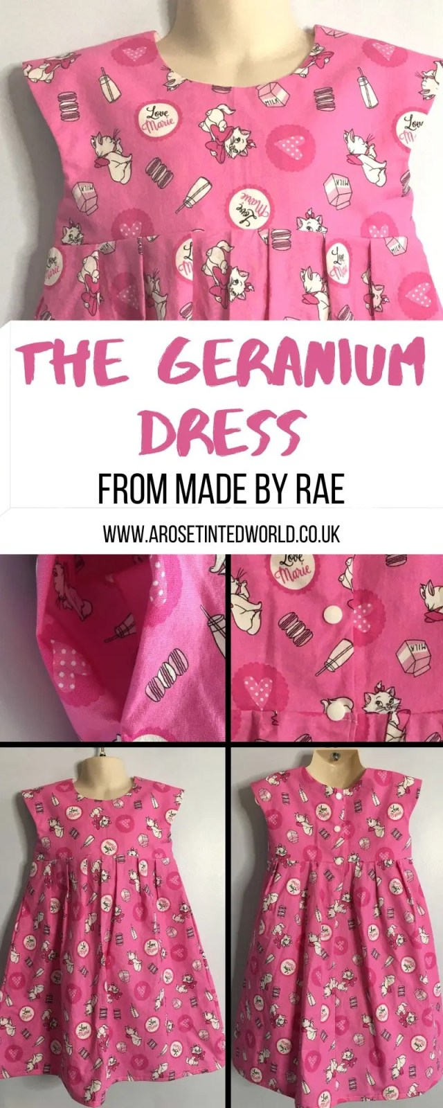 The Geranium Dress from Made By Rae is a brilliant adaptable and customisable child's dress making pattern. See how mine turned out and find out why this pattern is so versatile #sewing #dressmaking #childrensdressmaking #dressmaker #sewingprojects #sewingtutorials #sewingpatterns #slowfashion #sewingclothes #beginnerssewingprojects #easysewing #geraniummadebyrae #geraniumdress