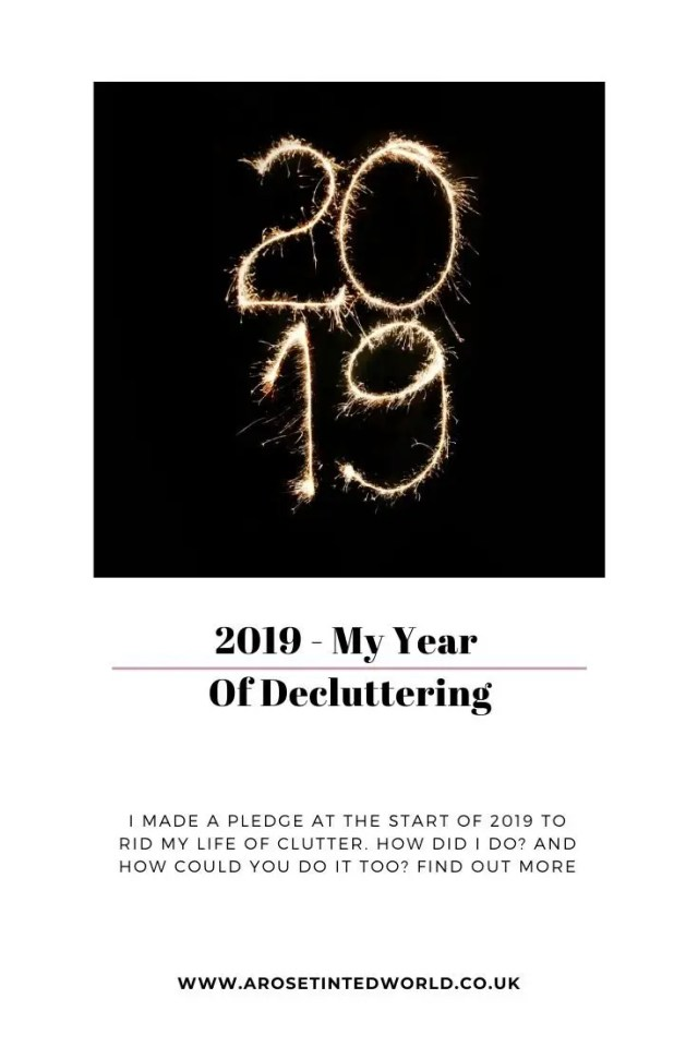 My Year Of Decluttering - at the start of this year I made a pledge to rid my life of as much clutter as possible. How did I get on? What did I do? Find out here. #declutter #decluttering #declutteryourhome #declutteringtips #declutteringahouse #decluttermyhouse #declutteringideas #decluttering365 #decluttertips #declutteringadvice #yeartoclear #newyearsresolutions #newyearsresolution #clutterfree #clutterfreehome #sustainability