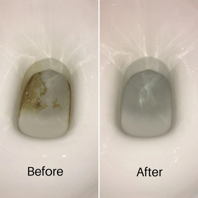 before and after limescale removal