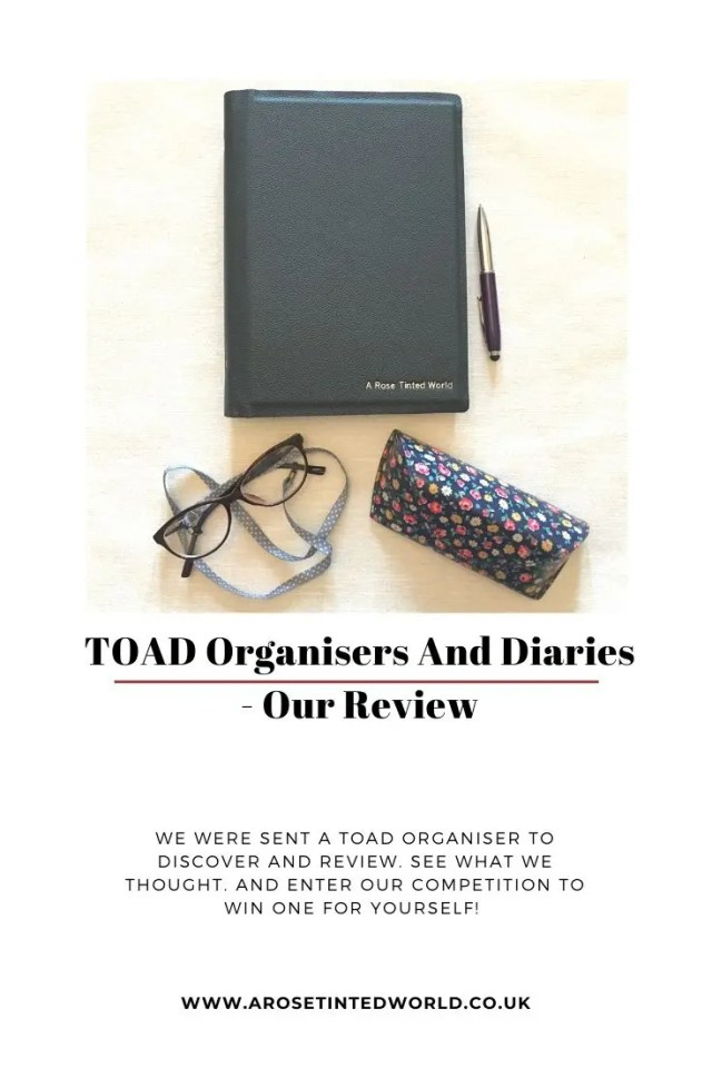 TOAD Organisers And Diaries - we were sent a personalised customised TOAD organiser to review. See what we thought, and how the TOAD is one of the most customisable and unique organiser products on the market. #diary #organiser