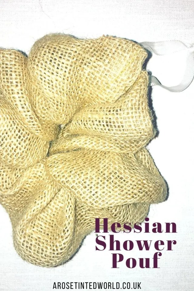 Hessian Shower Pouf -Sewing Projects That You Can Sell - make money from what you sew with these ideas for brilliant & sellable DIY items. Links to Full step by step tutorials for each. #sewing #sewingtosell #sewingprojects #sellinghandmade #craftfairs #craftfairideas #sewingcrafts