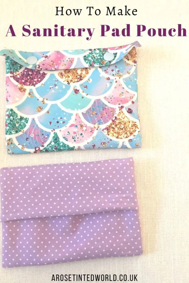 How To Make A Sanitary Pad Pouch -what do you use to carry your normal or reusable period pads? Here's a DIY tutorial on making a waterproof sanitary towel holder. Easy sewing project. for beginners. Great to gift or sell. And can be used as snack bags! #sewing #easysewingproject #beginnerssewingproject #reusablesanitarytowels #sewingtutorial #diytutorial #sanitarypadholder #sanitarypads #sanitarytowels #sustainable