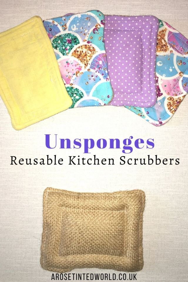Unsponges -Sewing Projects That You Can Sell - make money from what you sew with these ideas for brilliant & sellable DIY items. Links to Full step by step tutorials for each. #sewing #sewingtosell #sewingprojects #sellinghandmade #craftfairs #craftfairideas #sewingcrafts
