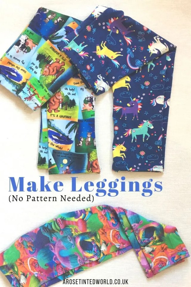 Leggings -Sewing Projects That You Can Sell - make money from what you sew with these ideas for brilliant & sellable DIY items. Links to Full step by step tutorials for each. #sewing #sewingtosell #sewingprojects #sellinghandmade #craftfairs #craftfairideas #sewingcrafts