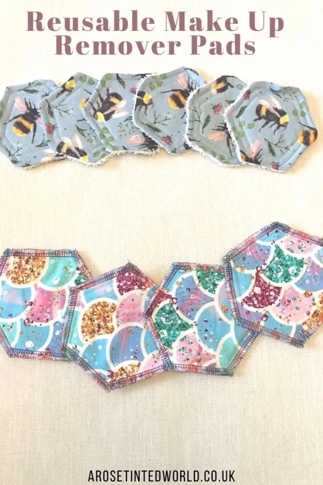 Reusable Make Up remover Pads -Sewing Projects That You Can Sell - make money from what you sew with these ideas for brilliant & sellable DIY items. Links to Full step by step tutorials for each. #sewing #sewingtosell #sewingprojects #sellinghandmade #craftfairs #craftfairideas #sewingcrafts
