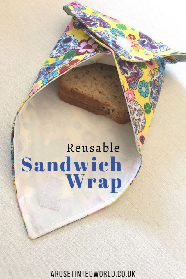 Reusable Sandwich Wrap -Sewing Projects That You Can Sell - make money from what you sew with these ideas for brilliant & sellable DIY items. Links to Full step by step tutorials for each. #sewing #sewingtosell #sewingprojects #sellinghandmade #craftfairs #craftfairideas #sewingcrafts
